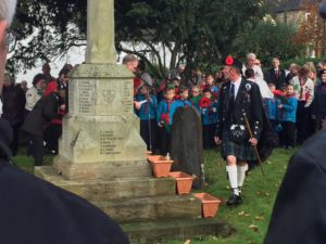Scouts at the Highworth Cenotaph